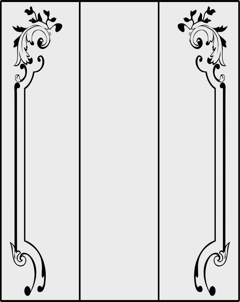 Трафареты рисунков на дверях своими руками